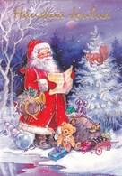 Santa Claus Singing From The Notes - Christmas Toys - Teddy Bear - Squirrel - Santa Claus
