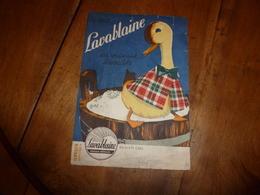 Buvard Ancien --> Le Vrai LAVABLAINE Est Vraiment Lavable (représente Canard En Habit écossais Sur Un Baquet De Lessive) - Animales