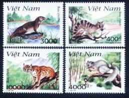Vietnam Viet Nam MNH Perf Stamps 1997 : Animals In Cat Ba National Park / Civet / Otter / Squirrel / Wild Cat (Ms753) - Vietnam