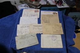 Lot De 9 Cartes Lettres De Poilus  14-18 - 1914-18