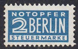 GERMANIA BIZONA- ALLEMAGNE - 1948/1949 - Yvert 70A Nuovo MNH, Sovrattassa Obbligatoria Per L'aiuto A Berlino. - Zone Anglo-Américaine