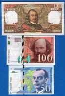 France 3 Billets - 1962-1997 ''Francs''