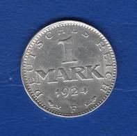 All  1  Mark  1924 F  Ttb - 1 Mark & 1 Reichsmark