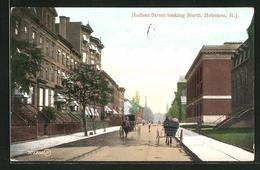 AK Hoboken, NJ, View On Husdon Street Looking North - Vereinigte Staaten