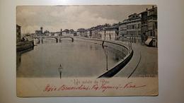 "Pisa - Lung'Arno Regio ""Saluti Da Pisa"" - 1901 - Viaggiata - Pisa"