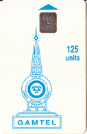 GAMBIA - Gamtel Logo 125 Units(reverse 4, Matt Surface), Chip SC5, CN : C48100908, Used - Gambia