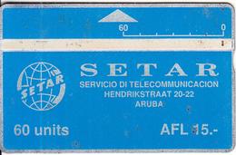 ARUBA(L&G) - SETAR Telecom Logo 60 Units, CN : 004A, Used - Aruba