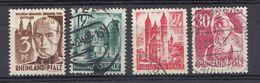 RHEINLAND/PFALZ - OCCUPAZIONE FRANCESE GERMANIA - 1947/1948 - Lotto Formato Da 4 Francobolli Usati: Yvert 2, 4, 8 E 9. - Zone Française