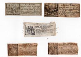 5 Images 17/18 Ieme Donat Martyr, Saint Trois Rois, Gaspar, Melchior,Balthasar - Devotieprenten