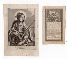 S Asella Maghet, S Leonard 6 December And 6 November - Devotieprenten