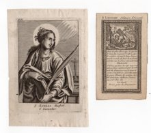 S Asella Maghet, S Leonard 6 December And 6 November - Images Religieuses