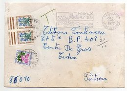 1977--Lettre Taxée De MEAUX Pour POITIERS-86 --TT  Type Végétaux - Marcophilie (Lettres)