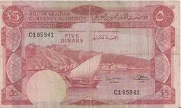 YEMEN DEMOCRATIC P. 4a 5 D 1965 F/VF - Jemen