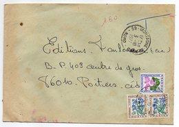 1977--Lettre Taxée De MORTAGNE DU NORD--59-pour  POITIERS-86 --TT  Type Végétaux - Marcophilie (Lettres)