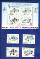 2001 34th Baseball World Cup Stamps & S/s Bear National Flag Map Globe Sport - Other