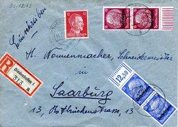 Lettre Recommandée De Thionville Pour Sarrebourg Datée Du 31/12/1941 - Alsace-Lorraine