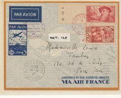 N°344/312 SUR LETTRE PAR AVION - Lettres & Documents