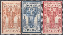 TRIPOLITANIA - 1926 - Lotto Di 3 Valori Nuovi Senza Gomma: Yvert 34/36. - Tripolitania