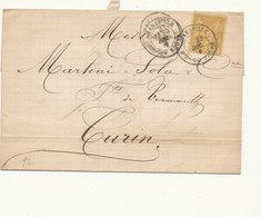N°92 SUR LETTRE - 1876-1898 Sage (Type II)