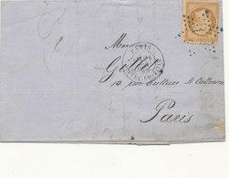 N°21 SUR LETTRE - 1862 Napoléon III