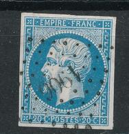 N°14 NUANCE ET OBLITERATION - 1853-1860 Napoleon III