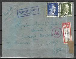 Allemagne III Reich Lettre Recommandée Censurée    Du 16 07 1943    De  Stettin     Vers   Beauvais  ( Oise ) - Germany