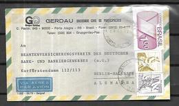 Brésil Lettre Par Avion Du 03 11 1977 De Porto Alegre Vers Berlin - Brésil