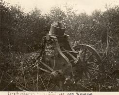 PHOTO ALLEMANDE - LITHUANIA LITUANIE - ARTILLERIE CANON ECLATE A KOWNO - KAUNAS - GUERRE 1914 1918 - 1914-18