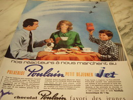 ANCIENNE PUBLICITE PULVERISE CHOCOLAT POULAIN  1965 - Affiches