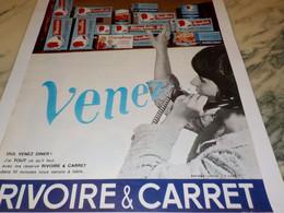 ANCIENNE PUBLICITE PATE ALIMENTAIRE  RIVOIRE & CARRET 1965 - Affiches