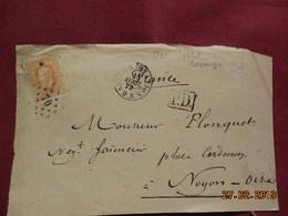 Lettre (devant) De 1872 Avec Obli Losange Pour Noyon - Postmarks - Points