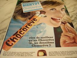 ANCIENNE PUBLICITE BIENTOT NOUVELLE CREATION CHOCOREVE 1965 - Affiches