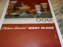 ANCIENNE PUBLICITE CREME DESSERT DE MONT BLANC 1965 - Affiches