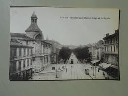 GARD NIMES BOULEVARD VICTOR HUGO ET LE LYCEE - Nîmes