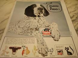 ANCIENNE PUBLICITE FIDELE A FIDO CHIEN 1965 - Autres Collections
