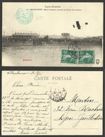 -FRANCE--LYON-AVIATION--LEGAGNEUX ( Biplan Sommer ) Passant Au-dessus Des Tribunes--1910 - Lyon 7