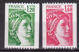 N° 2103 Et 2104  Type Sabine Provenace De Roulette 1 Bande Phosphore: Timbres Neuf N° 130 Et 480 Rouge Au Dos - Nuovi