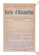 CARTE D' ALLUMETTES  Humour Vidalie Edition 19 Rue Carpeaux - Humoristiques