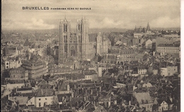 BRUSSEL BRUXELLES PANORAMA VERS ST GUDULE - Monuments, édifices