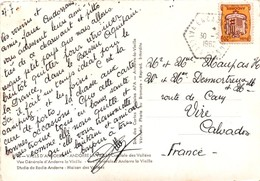 Encamps 1962 Vallées D'Andorre - Cachet Hexgonal - Carta Carte - Machine Stamps (ATM)