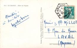 Ile Grande 1952 Cotes Du Nord - Hexagonal Agence Rurale Sur Gandon - Carta Carte - Poststempel (Briefe)