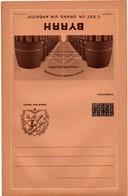 Carte-lettre FM Byrrh 1940 - Mention FM Caviardée Pour Utilisation Civile Post-armistice - Casque Canon Ancre Sabre - Marcophilie (Lettres)