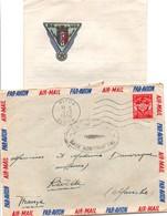Blida Alger 1954 - Lettre FM Base Aérienne 140 - Air En Algérie + Papier à En-tête - Marcophilie (Lettres)