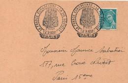 France Européenne - Vie Nouvelle - Expo Paris 1942 - Collaboration - Foyer Feu - Postmark Collection (Covers)
