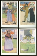 Beau Lot De 8 Cartes Postales De Belgique  Bruges   Illustrateur Jules Fonteyne    Mooi Lot Van 8 Postkaarten Brugge - Cartes Postales