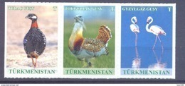 2017. Turkmenistan, Birds, 3v In Strip, Mint/** - Turkménistan