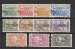 Nouvelles-Hébrides Légende Française 1957 Série Courante 175-185 ** 11val. MNH - Leyenda Francesa