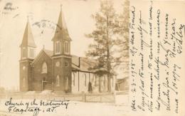 FLAGSTAFF CHURCH OF THE NATIVITY CARTE PHOTO 1908 - Verenigde Staten