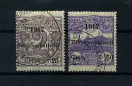 SAN MARINO 1917 Nr 50-51 Haftstelle/Falz (112065) - San Marino