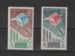 Nouvelles-Hébrides Légende Française 1965 Centenaire De L'UIT  211-212 ** 2val. MNH - Nuevos